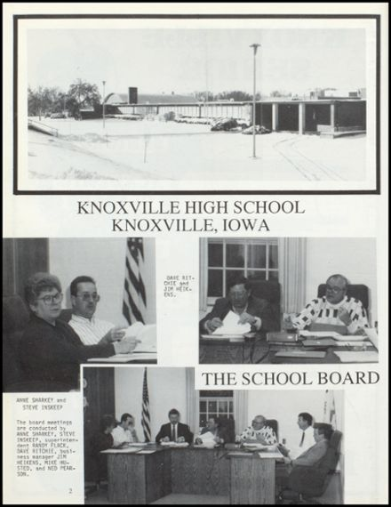1991 Knoxville High School Yearbook Page 6