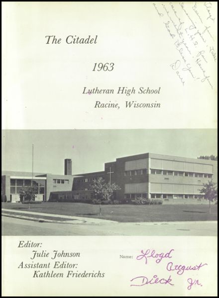 1963 Racine Lutheran High School Yearbook Page 5