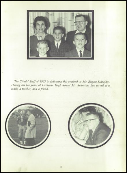 1963 Racine Lutheran High School Yearbook Page 7