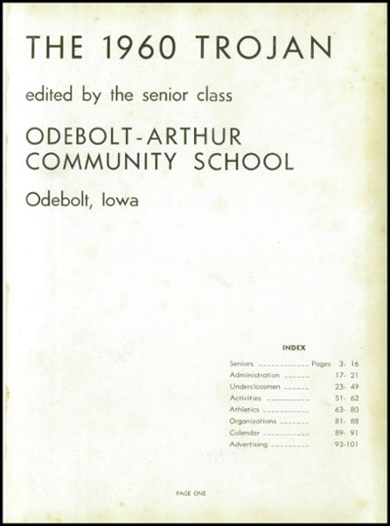 1960 Odebolt-Arthur High School Yearbook Page 5