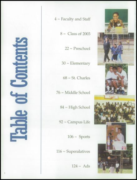 2003 Clinton Christian School Yearbook Page 6