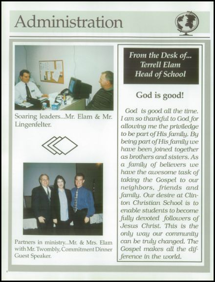 2003 Clinton Christian School Yearbook Page 8
