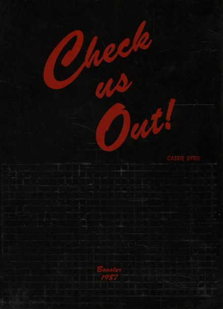 1987 Boiling Springs High School Yearbook Cover