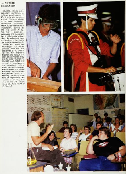 1985 Mt. Carmel High School Yearbook Page 8