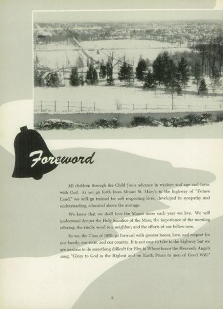 1950 Mt. St. Mary Academy Yearbook Page 6