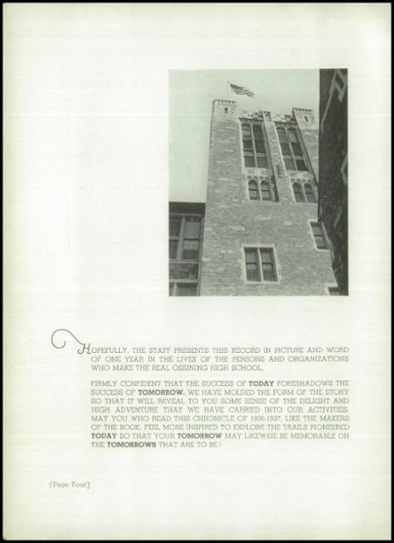 1937 Ossining High School Yearbook Page 6
