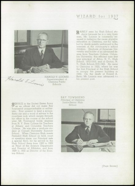 1937 Ossining High School Yearbook Page 9