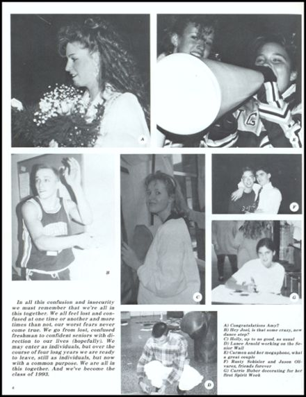 1993 John Glenn High School Yearbook Page 8