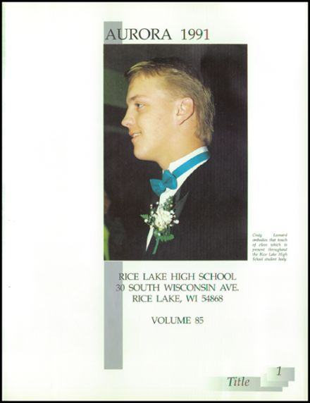 1991 Rice Lake High School Yearbook Page 5