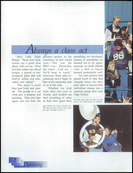 1991 Rice Lake High School Yearbook Page 6