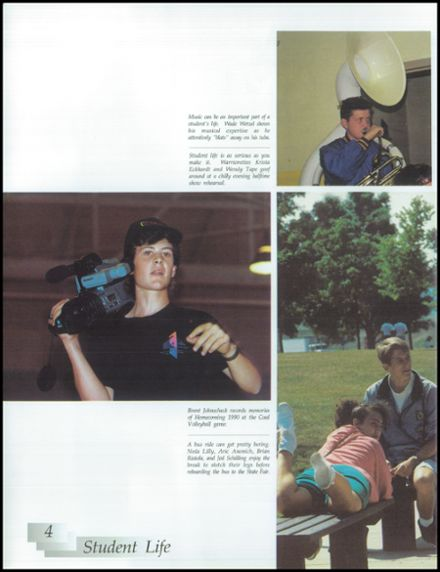 1991 Rice Lake High School Yearbook Page 8