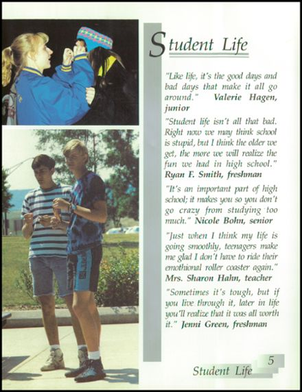 1991 Rice Lake High School Yearbook Page 9