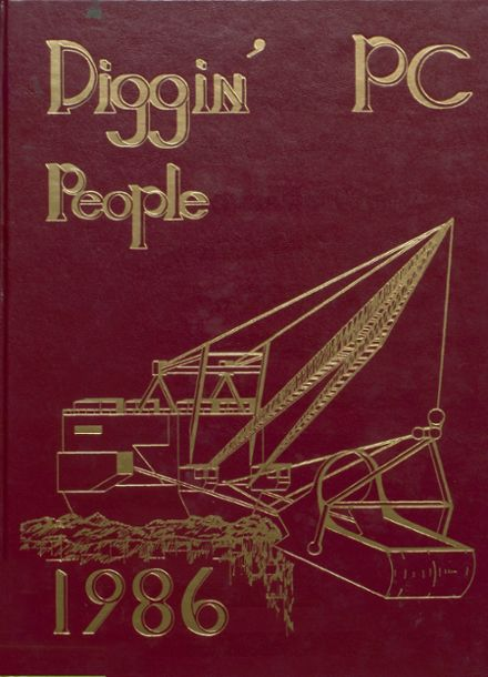 1986 Pike Central High School Yearbook Cover
