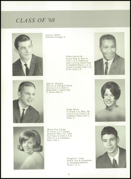 1968 Stanton High School Yearbook Page 8