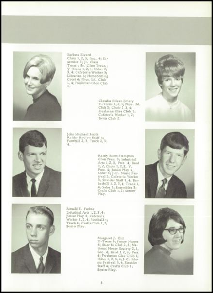1968 Stanton High School Yearbook Page 9