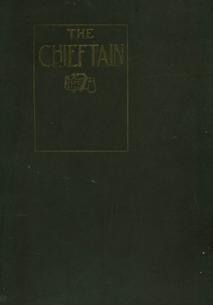 1917 Muskogee High School Yearbook Cover