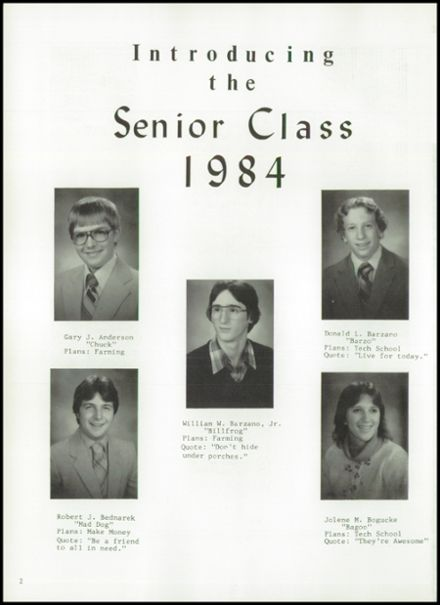 1984 Princeton High School Yearbook Page 6
