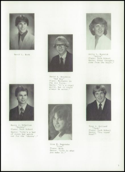 1984 Princeton High School Yearbook Page 7
