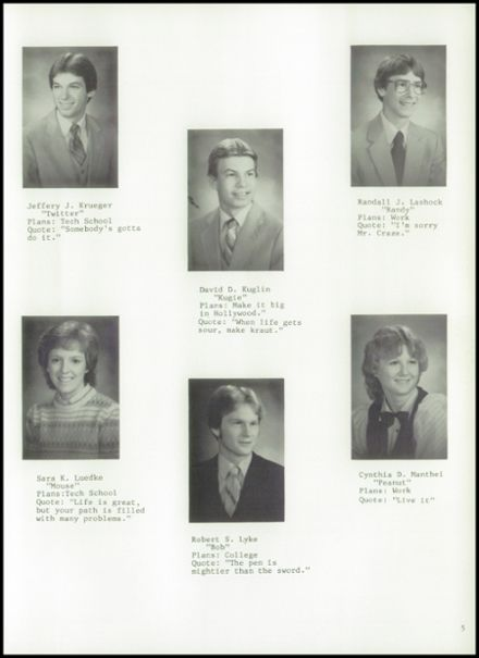1984 Princeton High School Yearbook Page 9