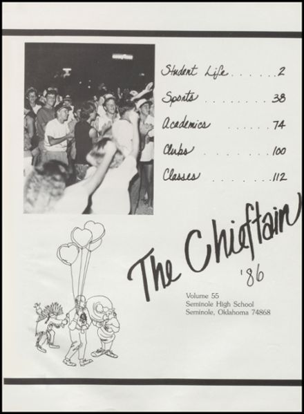 1986 Seminole High School Yearbook Page 5