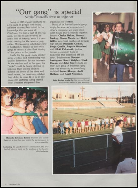 1986 Seminole High School Yearbook Page 6