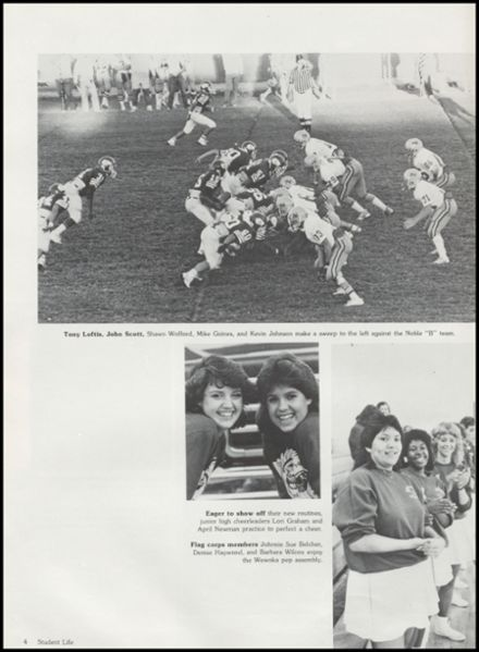 1986 Seminole High School Yearbook Page 8