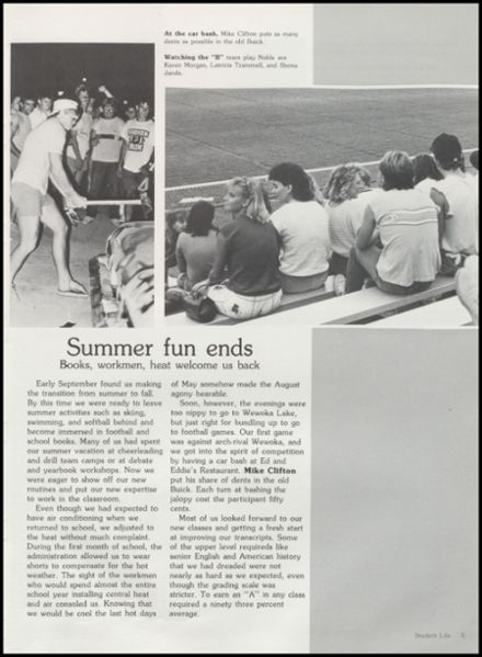1986 Seminole High School Yearbook Page 9