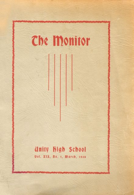 1938 Unity High School Yearbook Cover
