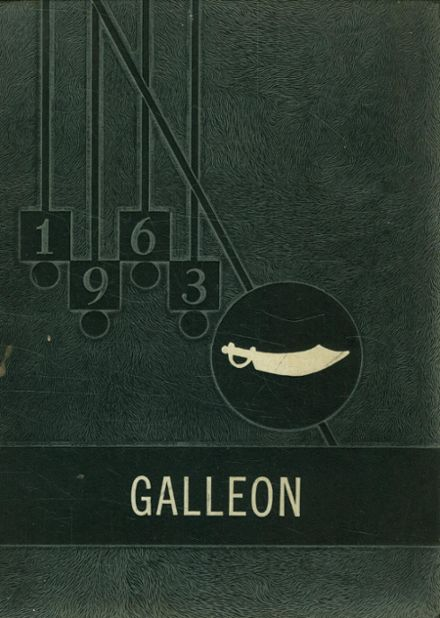 1963 Mathis High School Yearbook Cover