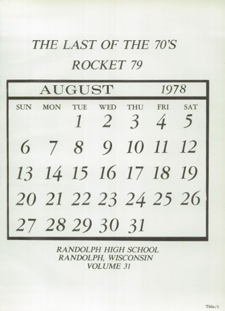 1979 Randolph High School Yearbook Page 5