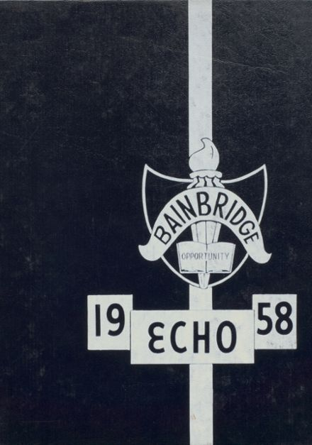 1958 Bainbridge-Guilford High School Yearbook Cover