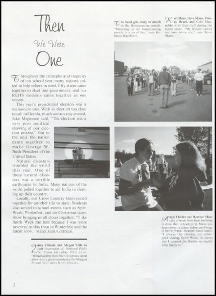 2001 Rib Lake High School Yearbook Page 6