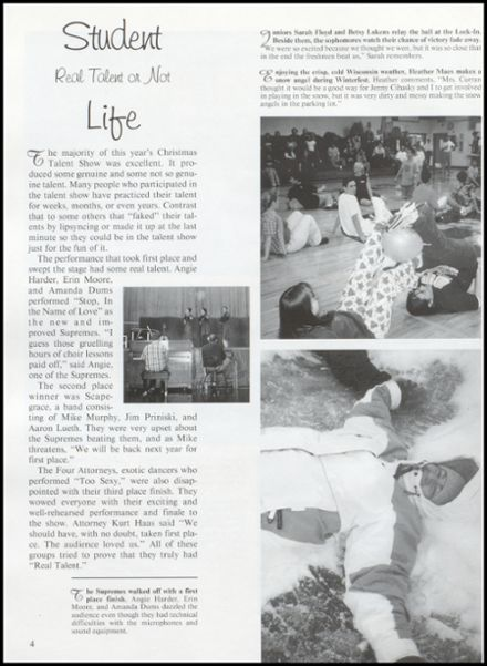 2001 Rib Lake High School Yearbook Page 8