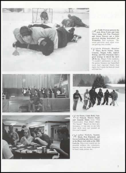 2001 Rib Lake High School Yearbook Page 9