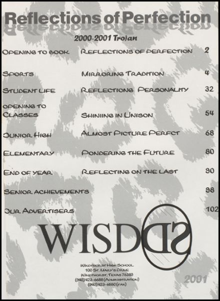 2001 Windthorst High School Yearbook Page 5