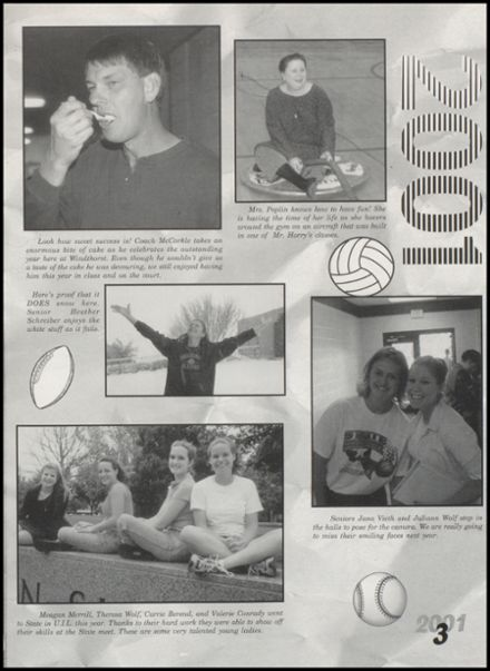 2001 Windthorst High School Yearbook Page 7