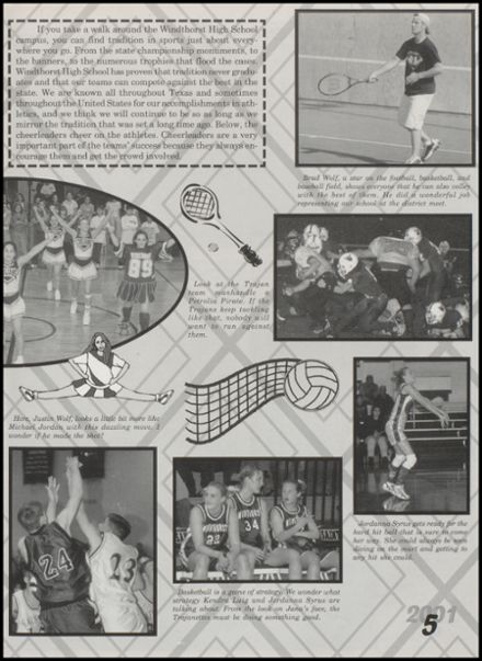 2001 Windthorst High School Yearbook Page 9