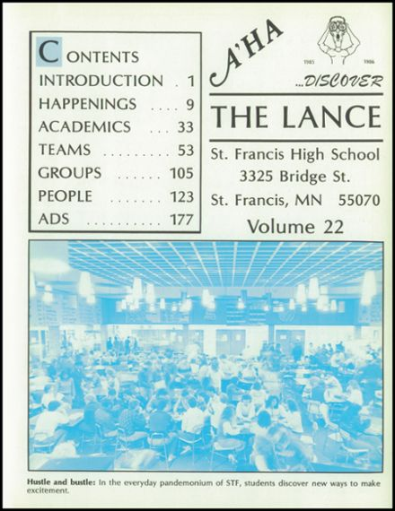 1986 St. Francis High School Yearbook Page 5
