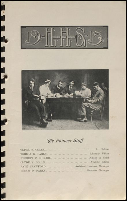 1915 Hennessey High School Yearbook Page 7