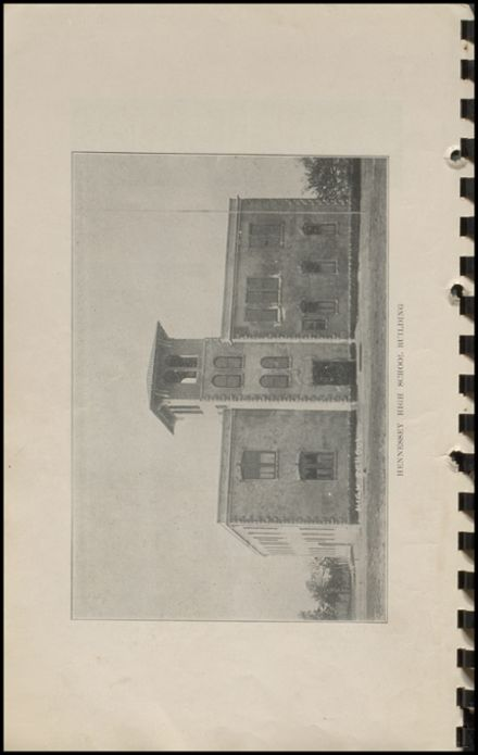 1915 Hennessey High School Yearbook Page 8