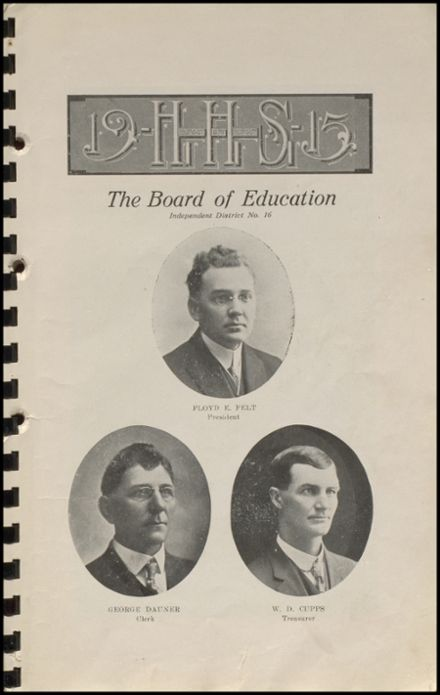 1915 Hennessey High School Yearbook Page 9
