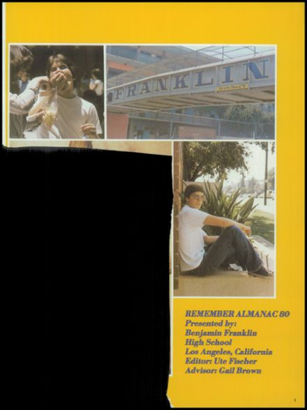 Explore 1980 Franklin High School Yearbook Los Angeles Ca Classmates
