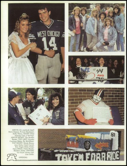 1988 West Chicago Community High School Yearbook Page 8