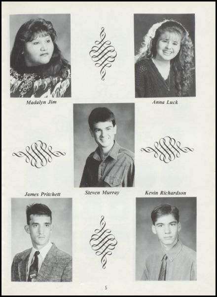 1994 Tushka High School Yearbook Page 9