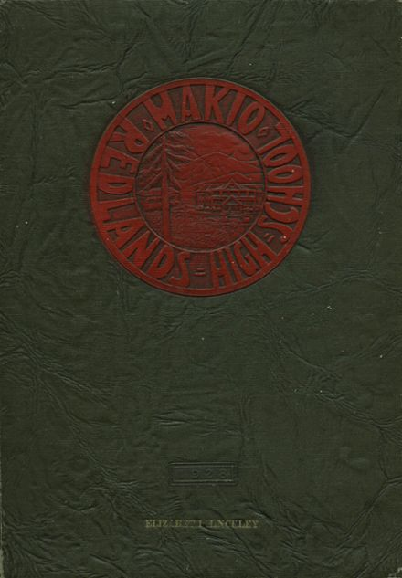 1928 Redlands High School Yearbook Cover