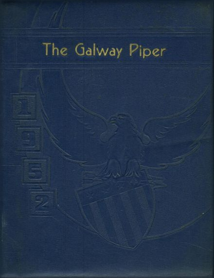 1952 Galway Central High School Yearbook Cover