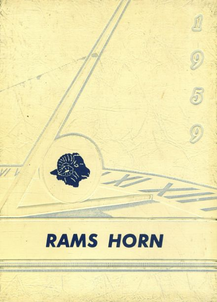 1959 Ruthven-Ayrshire High School Yearbook Cover