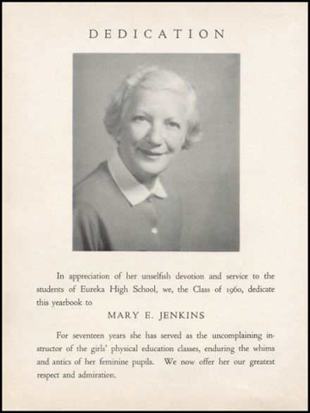 1960 Eureka High School Yearbook Page 8