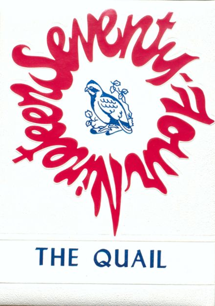 1974 Quail High School Yearbook Cover