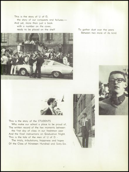 1966 University of Detroit High School Yearbook Page 9